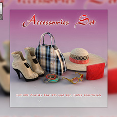 Woman accessories 3D Model