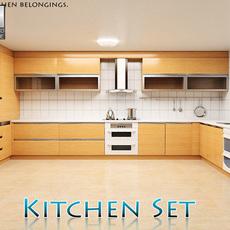 Kitchen Set P1 3D Model
