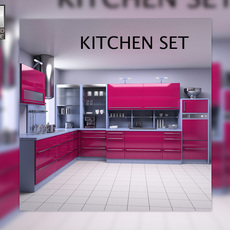 Kitchen Set P2 3D Model