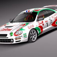 Toyota Celica GT-Four Castrol Rally 3D Model