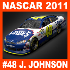 Nascar 2011 Car - Jimmie Johnson Chevrolet Impala #48 3D Model