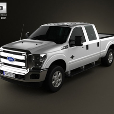 Ford Super Duty CrewCab 2011 3D Model