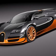 Bugatti Veyron Super Sport 2012 3D Model