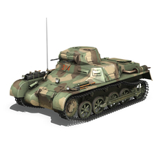 Panzer 1 - PzKpfw 1 Ausf.A - China  3D Model