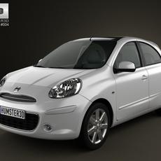 Nissan Micra (March) 2011 3D Model