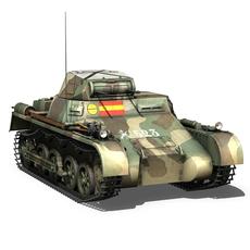 Panzer 1 - PzKpfw 1A - Spainish Civil War 3D Model