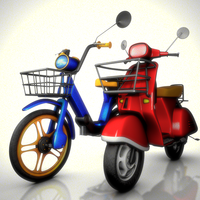 Vespa Scooter Rig & Ciao Scooter Rig, Bundle Pack for Maya 1.1.0