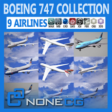 Pack - 747 Collection 3D Model