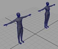 BASIC man and woman mesh 3D Model