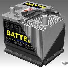 Car Battery + Full Interior  3D Model