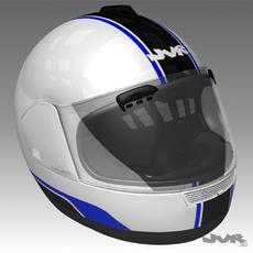 Motorcycle Helmet Textured  3D Model