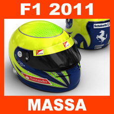 F1 2011 Felipe Massa Helmet 3D Model