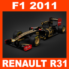 F1 2011 Renault R31 - Lotus Renault GP 3D Model