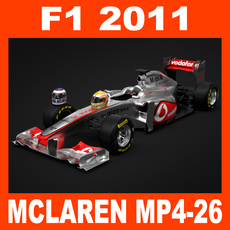 F1 2011 McLaren MP4-26 - Vodafone Mercedes 3D Model