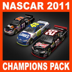 Nascar 2011 Pack - 2010 Champions Cars 3D Model