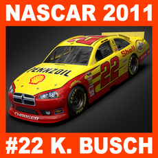 Nascar 2011 Car - Kurt Busch Dodge Charger #22 3D Model