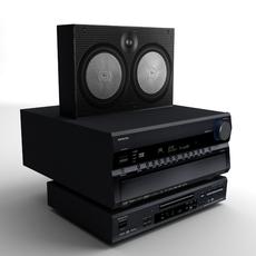 Electronics Collection Entertainment Center 3D Model
