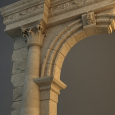 Old Stone Column & Arch 3D Model