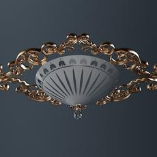 Ornate Ceiling Light Fixture 3D Model