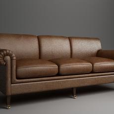 Rolled Arm Sofa 3 3D Model