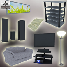 Home theatre set 3 3D Model