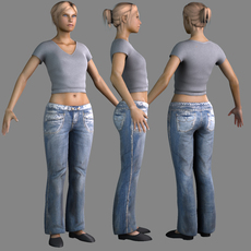 sexy woman with clothes 3D Model