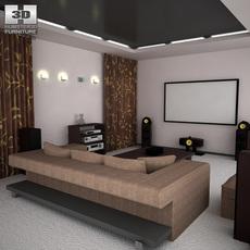 Home theatre set 5 3D Model