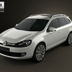 VolksWagen Golf Variant 2010 3D Model