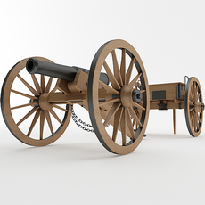 Napoleon M1841 6 Pounder Collection  3D Model