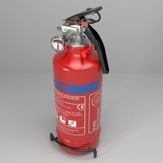 Fire extinguisher (vehicle or household) 3D Model
