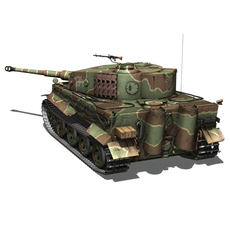 Panzer VI - Tiger - Late Production 3D Model