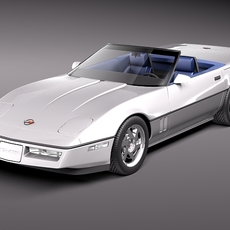 Chevrolet Corvette C4 convertible 3D Model