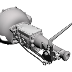 Ford 4-Speed Toploader Transmission & Shifter	 3D Model