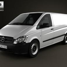 Mercedes-Benz Vito PanelVan Long 2011 3D Model