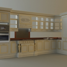 Kitchen Cabinets & Appliances 3D Model