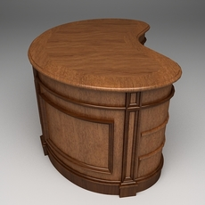 Photorealistic Highly Detailed Desk 3D Model