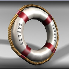 Pool Safety Ring - Low Poly 3D Model
