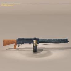 LMG14 machine gun 3D Model