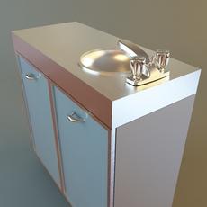 Medical Office Sink Cabinet 3D Model