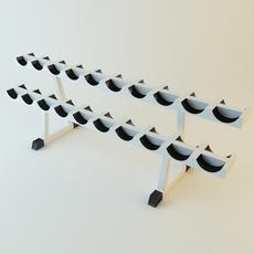 Dumbell Rack 3D Model