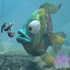 Cartoon Exotic Fish RIGGED 3D Model
