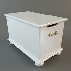 Wooden Storage Chest 3D Model
