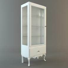 Display Case Cabinet Vitrine 3D Model
