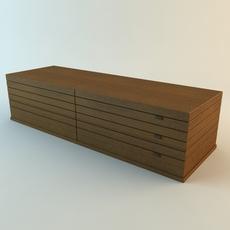 Low Storage Cabinet 3D Model
