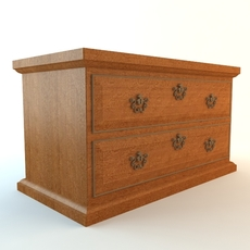 Small Drawer Chest 3D Model