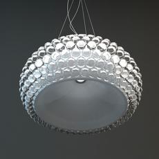 Glass Bead Hanging Light Fixture 3D Model