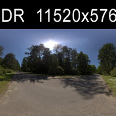 Road with trees HDRI Environment (High resolution)