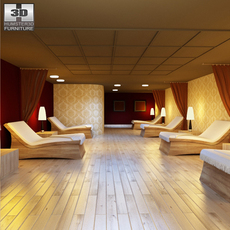 Rest room 01 Set 3D Model