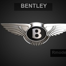 Bentley 3d LOGO 3D Model