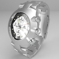 Chronograph watch 3D Model